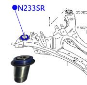 N233SR ФОРТУНА Сайлентблок задней балки задний 21.5*81.6*65.2*72