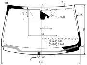 SPGAS40LVCPSSHLFWHX SAT Стекло лобовое с обогревом щеток +дд +камера в клей TOYOTA RAV4 #C4# 13-15
