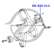 HE820012 HANSE Ролик натяжителя приводного ремня