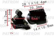 P371518 PATRON Клипса пластмассовая GM применяемость внутренняя отделка - двери, багажный отсек, крышка багажника