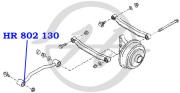 HR802130 HANSE Сайлентблок продольной тяги задней подвески, передний