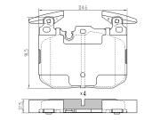 ST34116859066 SAT Колодки тормозные перед BMW 3 F30 11-/1 F20 10-/4 F33 13-