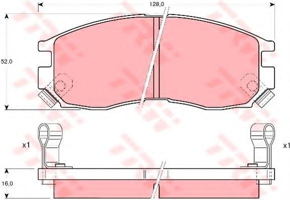 GDB1128 TRW Колодки тормозные передние