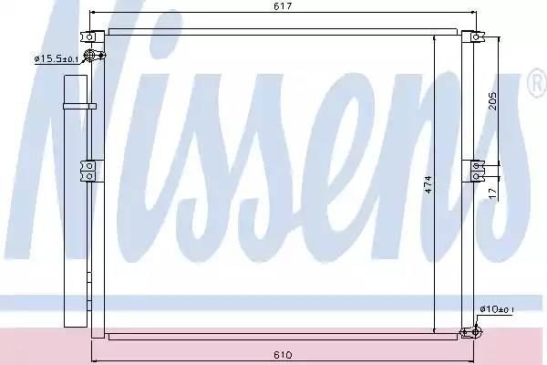 940106 NISSENS Радиатор кондиционера