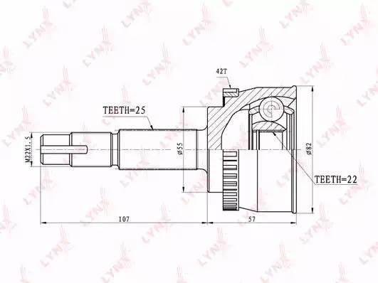 CO5702A LYNX ШРУС