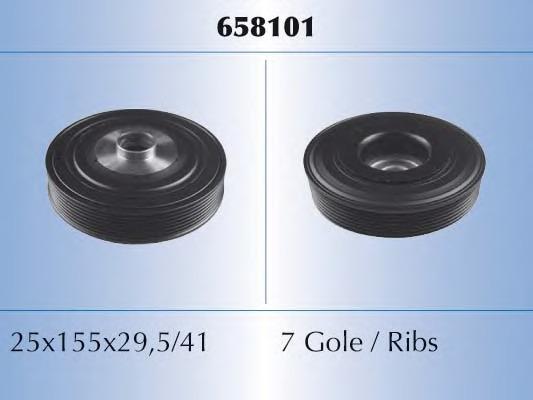 658101 MALO Ременный шкив, коленчатый вал