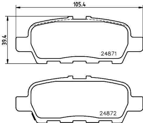 8DB355029691 HELLA Комплект тормозных колодок, дисковый тормоз