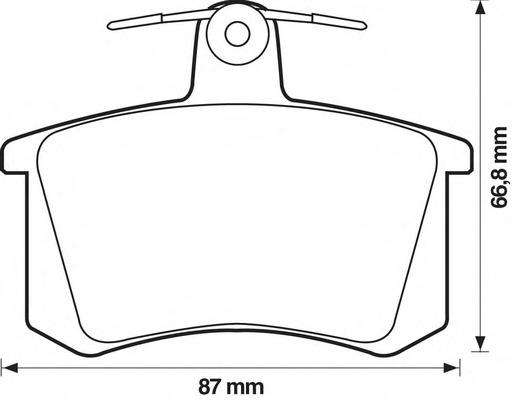 571462J JURID Комплект тормозных колодок, дисковый тормоз