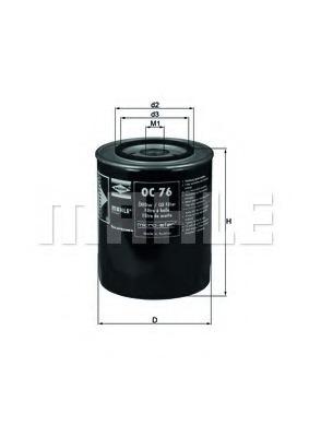OC76 MAHLE Фильтр масляный