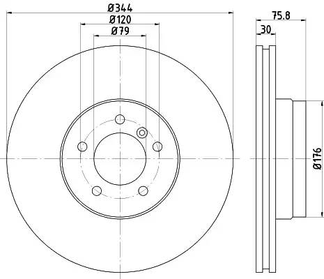 8DD355128381 HELLA Тормозной диск