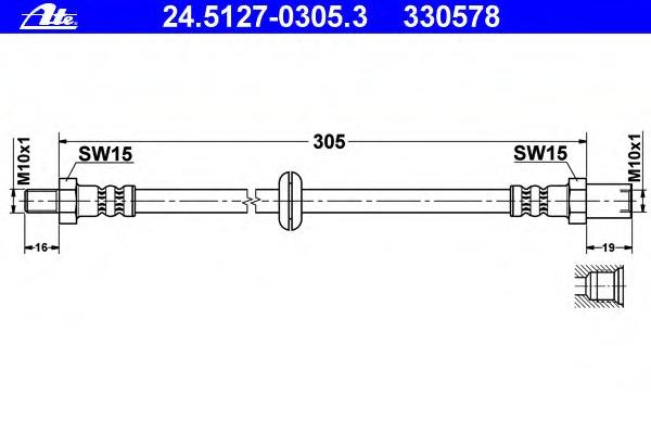 24512703053 ATE Тормозной шланг