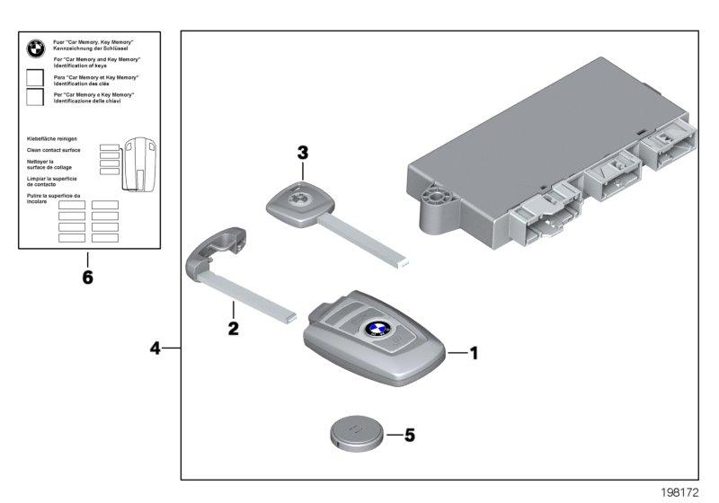 51217268293 BMW Вставной ключ (заготовка)