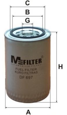 Топливный фильтр M-FILTER DF697