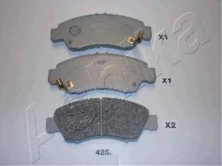 5004425 ASHIKA Комплект тормозных колодок, дисковый тормоз
