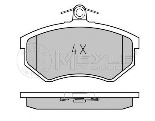 0252066916 MEYLE Комплект тормозных колодок, дисковый тормоз