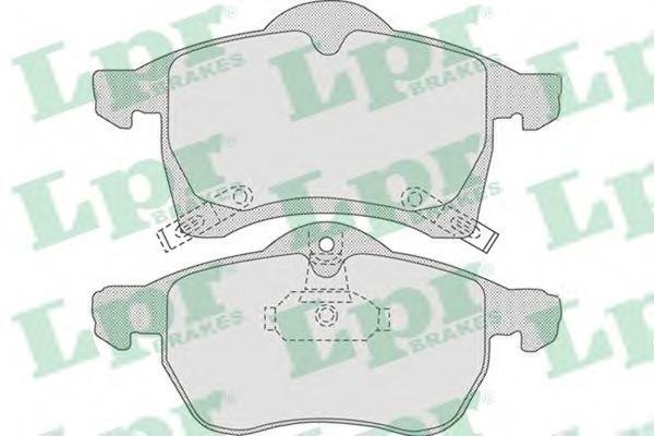 Комплект тормозных колодок, дисковый тормоз LPR 05P690