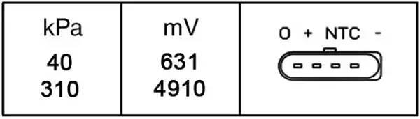 6PP009400251 HELLA Датчик, давления воздуха       TIGUAN (5N_)