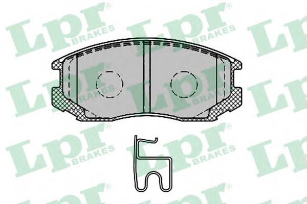 05P1427 LPR Комплект тормозных колодок, дисковый тормоз