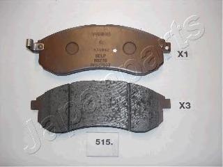 PA515AF JAPANPARTS Колодки тормозные дисковые передние, комплект