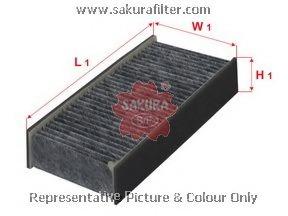CAC1609 SAKURA Фильтр салона угольный комплект