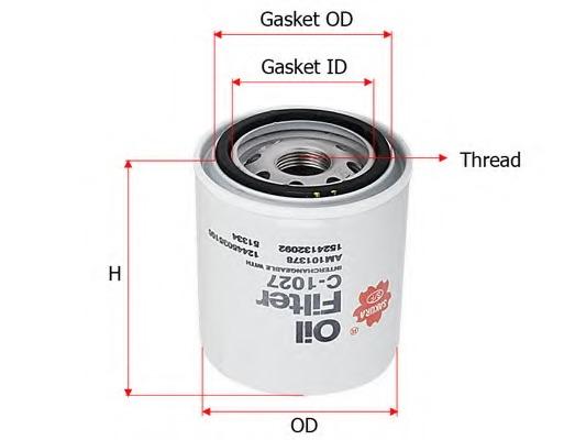 C1027 SAKURA Фильтр масляный