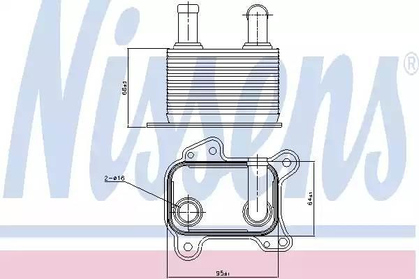 90825 NISSENS Масляный радиатор, двигательное масло