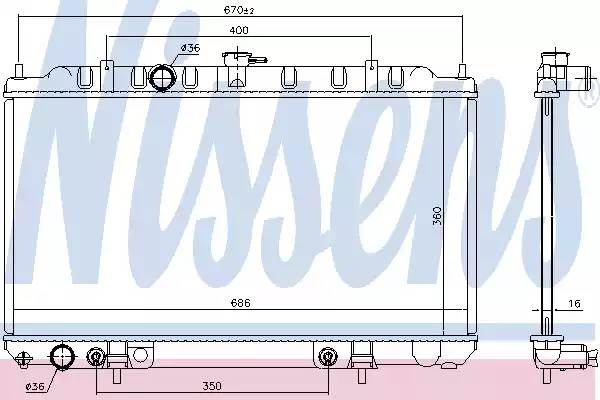 68807 NISSENS Радиатор, охлаждение двигателя