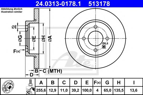 24031301781 ATE Тормозной диск