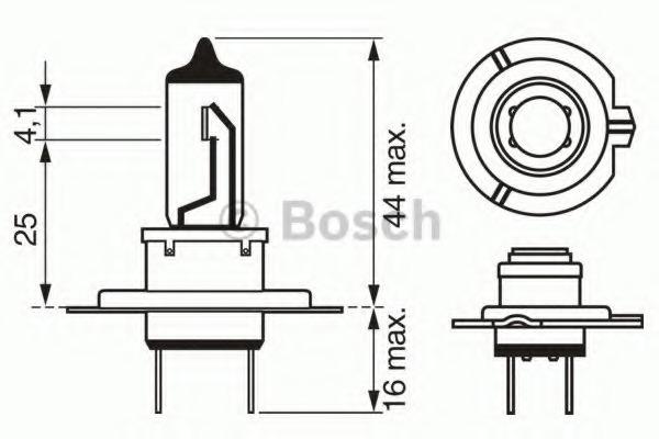 1987302079 BOSCH Лампа галогеновая BOSCH H7 PX26d 12V 55W  1шт.