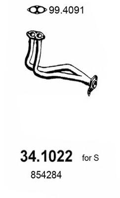 341022 ASSO Труба выхлопного газа