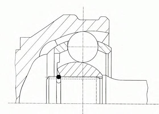 302115 GKN (LOEBRO) Шарнирный комплект, приводной вал