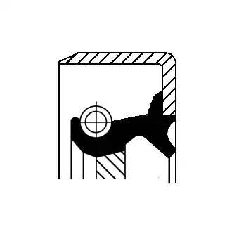 19033961B CORTECO Уплотняющее кольцо, ступенчатая коробка передач