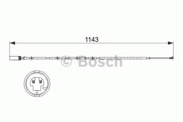 1987473517 BOSCH Сигнализатор, износ тормозных колодок