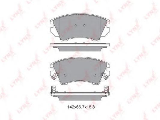 BD5927 LYNX Комплект тормозных колодок