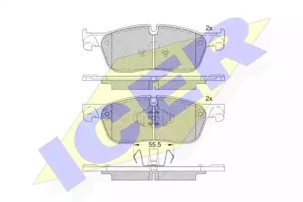 182236203 ICER Колодки тормозные дисковые