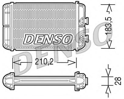 DRR20004 DENSO Теплообменник, отопление салона