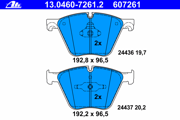 13046072612 ATE Комплект тормозных колодок, дисковый тормоз