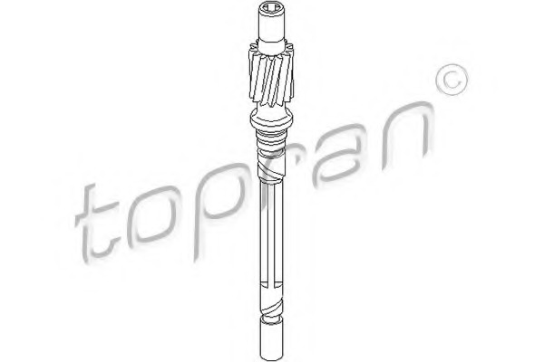 107397 TOPRAN Тросик спидометра
