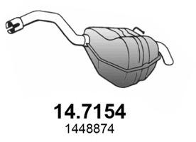 147154 ASSO Глушитель выхлопных газов конечный
