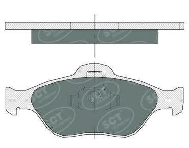 SP363 SCT Комплект тормозных колодок, дисковый тормоз