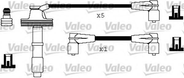 346327 VALEO Комплект проводов зажигания