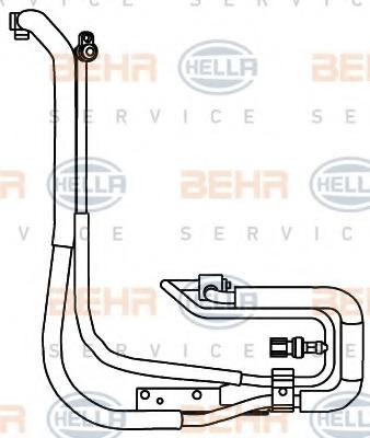 9GS351337611 HELLA Трубопровод высокого давления, кондиционер
