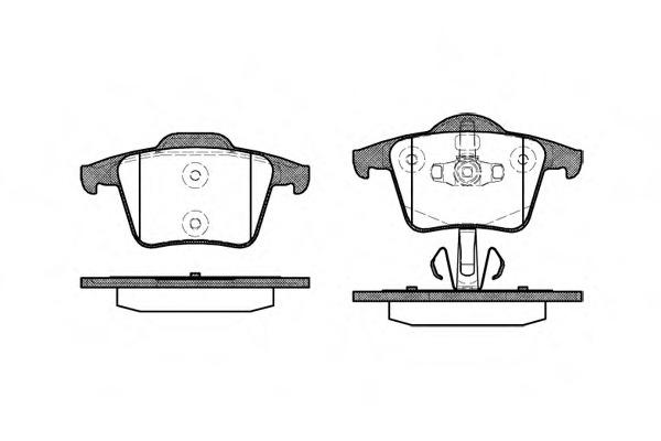 Комплект тормозных колодок, дисковый тормоз ROAD HOUSE 2104400