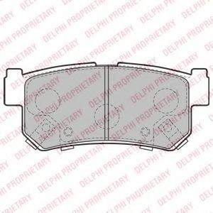 LP2127 DELPHI Колодки тормозные дисковые, комплект