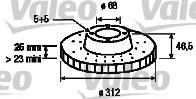 186758 VALEO Тормозной диск