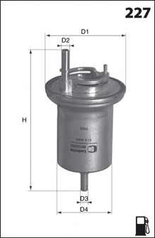 ELE6063 MECAFILTER Топливный фильтр