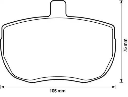 571250D JURID Комплект тормозных колодок, дисковый тормоз