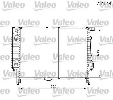 731514 VALEO Радиатор, охлаждение двигателя