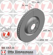 100335720 ZIMMERMANN Тормозной диск