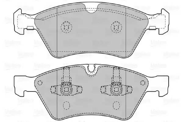 598728 VALEO Комплект тормозных колодок, дисковый тормоз